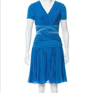 Halston Heritage Blue Dreamy Dress Like New size M